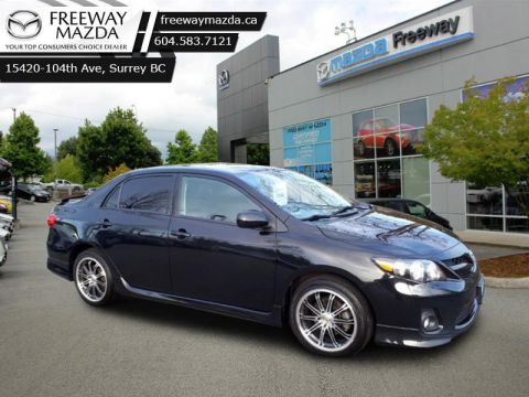 2012 Toyota Corolla S  -  Power Windows -  Power Doors - $87 B/W